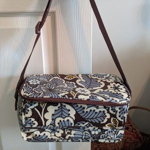 Vera Bradley Mini Cooler in Slate Blooms